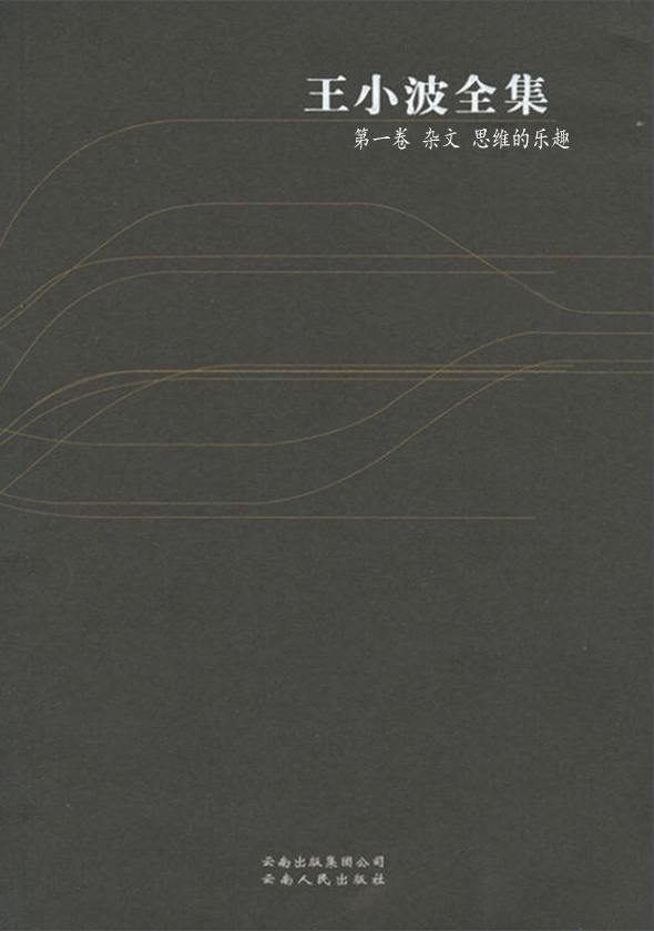 王小波全集·第一卷:杂文
