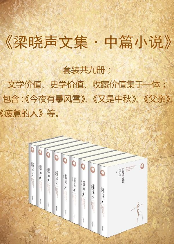 梁晓声文集﹒中篇小说(套装共九册)